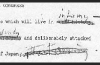 FDR's Proposed Message to Congress, page 1