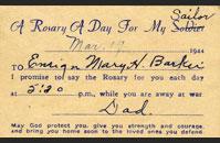 Rosary Card
