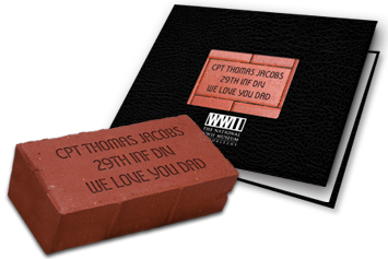 Commemorative Brick and Tribute Book Package
