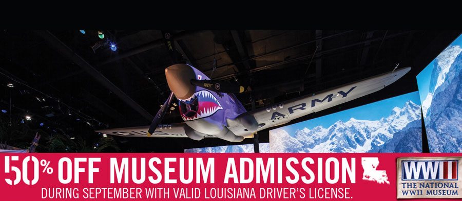 50% off Museum Admission | During September with Valid Louisiana Driver's License