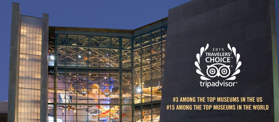 TripAdvisor Ranks Museum #3 Among the Top Museums in the US and #15 Among the Top Museums in the World.