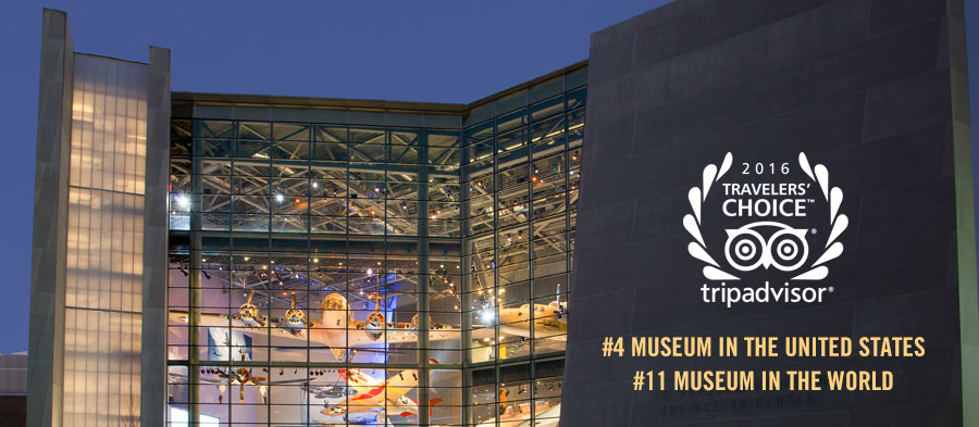 TripAdvisor Ranks Museum #4 Museum in the US and #11 Museum in the World.