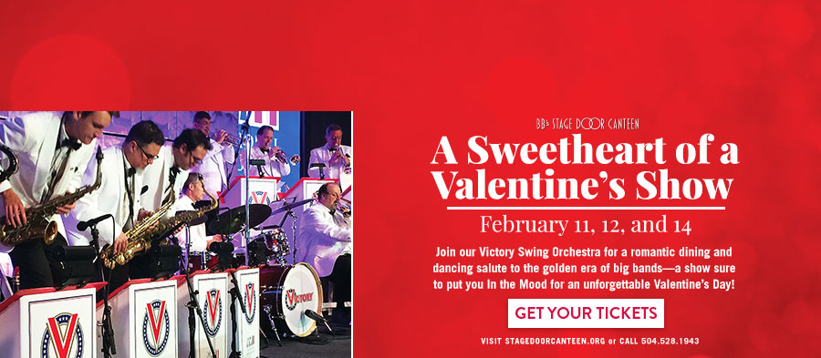 BB's Stage Door Canteen presents 'A Sweetheart of a Valentine's Show.'. Click for more info on tickets and showtimes.