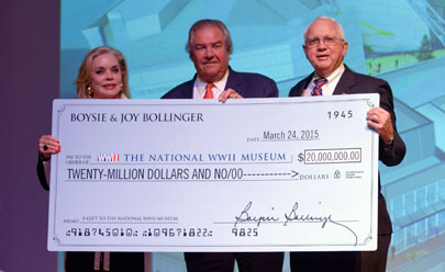 Joy & Boysie Bollinger donate $20M to The National WWII Museum