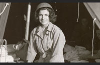 Army Nurse - An Army nurse works in a field hospital. Nurses began landing on the Normandy beachhead four days after the initial invasion. The first to arrive were members of the 42nd and 45th Field Hospitals and the 91st and 128th Evacuation Hospitals. Image courtesy of National Archives, 111-SC-190305