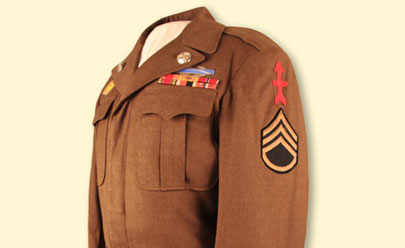 Ike jacket worn by Staff Sgt. James A. Mendez